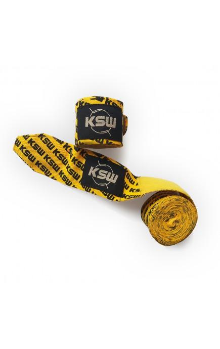Bandaż bokserski KSW żółty