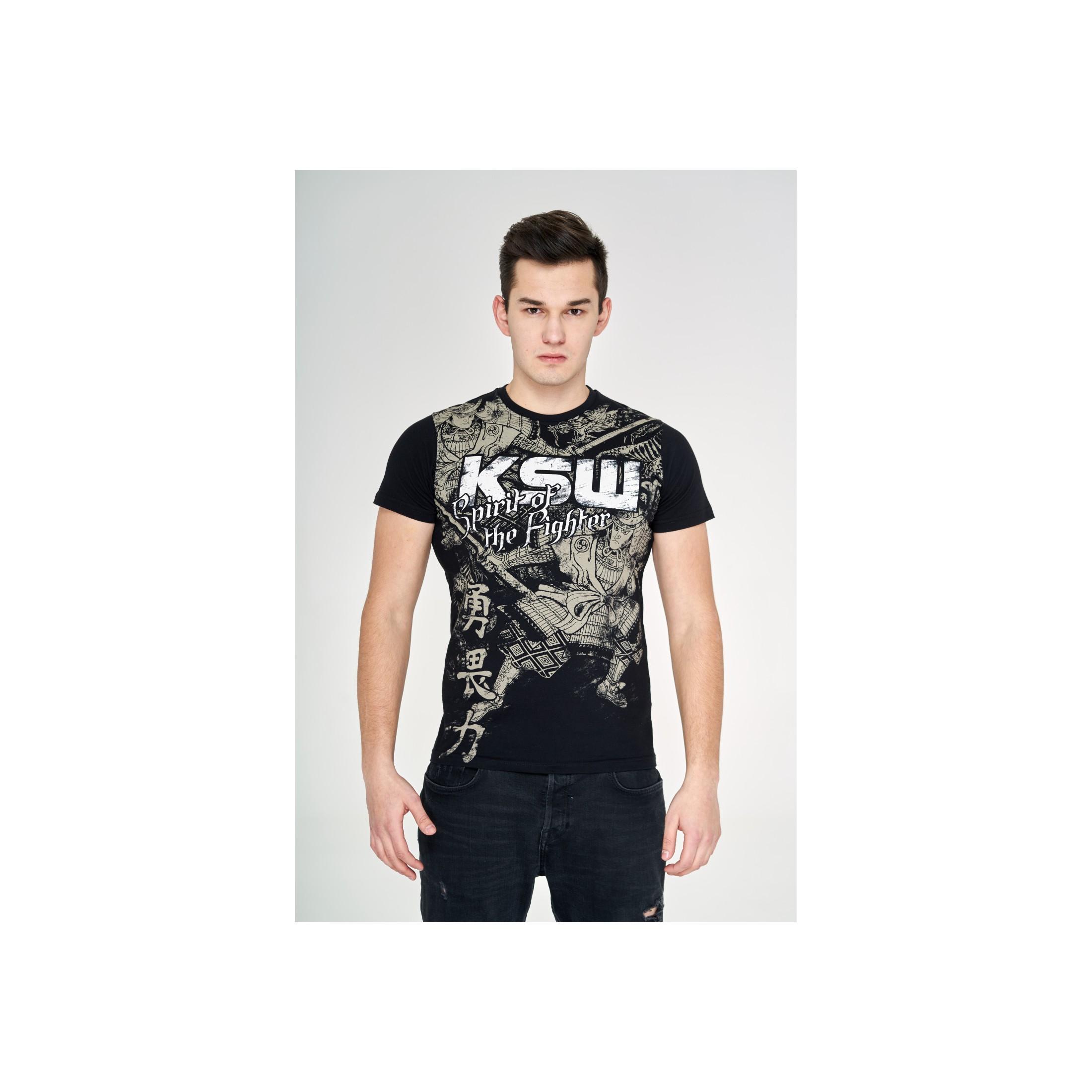 T-shirt czarny Samuraj