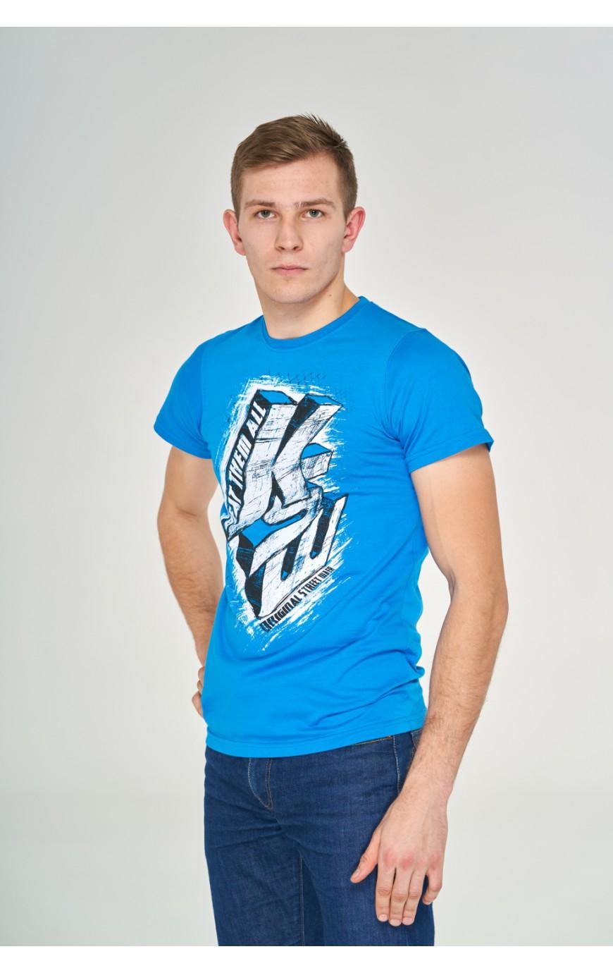 T-shirt Niebieski Beat Them All